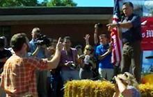 Mitt Romney gets heckled in Iowa