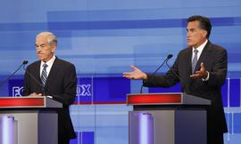 Ron Paul, Mitt Romney, debate