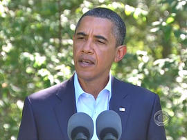 Obama sends a message to Libyan rebels
