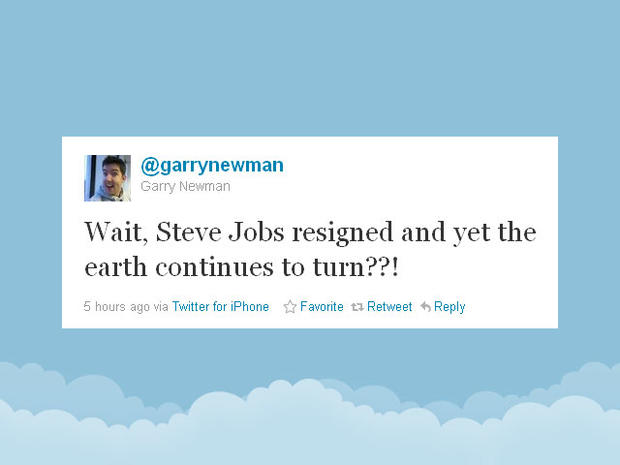thanks from a fan twitter reacts to steve jobs