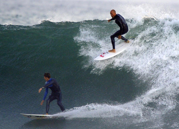 Surf's up! Monster waves hit Calif.
