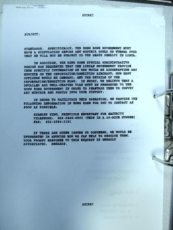 Documents linking CIA and Qaddafi regime