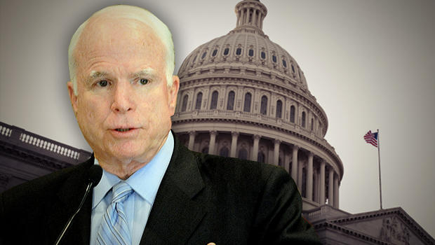 US senator John McCain smiles during a press conference in New Delhi on August 18, 2011 following his two-day visit to Kashmir. McCain held discussions 'on various important issues' with India's top representative in Kashmir and senior Indian army officia