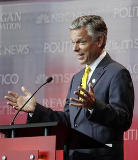 Jon Huntsman, GOP debate