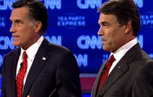 Romney, Perry spar over Social Security