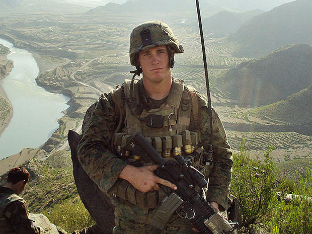 In this undated photo released by the U.S. Marines, Sgt. Dakota Meyer poses for a photo while deployed in support of Operation Enduring Freedom in Ganjgal Village, Kunar province, Afghanistan.