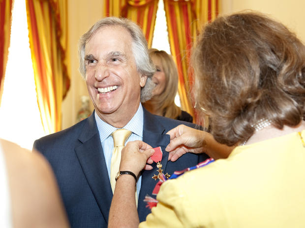 Henry Winkler presented OBE