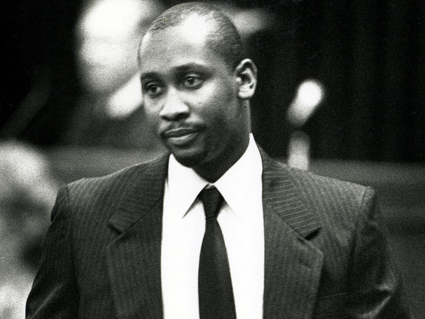"""Troy Anthony Davis enters Chatham County Superior Court Aug. 22, 1991, in Savannah, Ga., during his trial in the shooting death of off-duty police officer Mark MacPhail. Davis has drawn a considerable amount of worldwide support, from the Vatican to the European Union, from President Carter to Pope Benedict XVI. The NAACP has launched an """"I am Troy"""" campaign, and a Change.org petition asking the five-member Georgia pardons board to spare his life has attracted more than 100,000 signatures."""