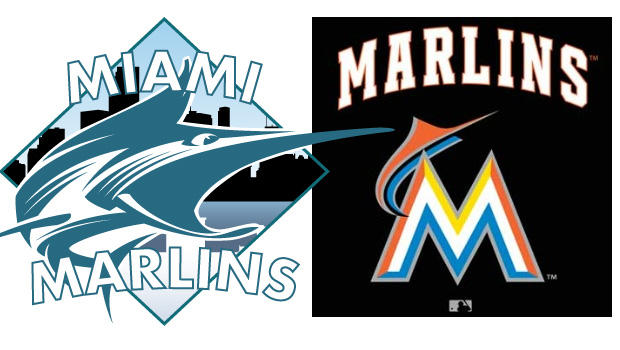 CBSNews.com version of the Marlins' new logo, left, and the logo leaked to the Internet