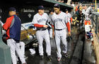 Tampa Bay Rays rush the field after Evan Longoria home run