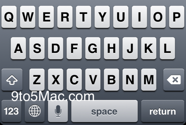 A purported shot, which cropped up earlier this year, of speech-to-text features in a future version of iOS 5.