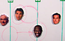 """Herman Cain advances past Rick Perry in """"The Drive"""""""