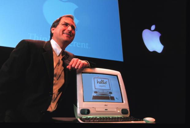 Steve Jobs with iMac