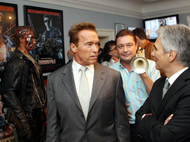 Arnold at the Arnold Schwarzenegger Museum