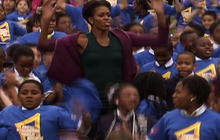 First Lady tries to break jumping jacks record