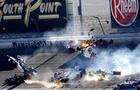 Indycar crash Las Vegas