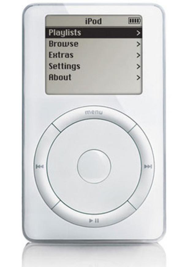 Apple's original iPod in 2001.