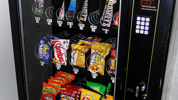 school vending machines (cbs/ap) snacks sold in vending machines at schools may soon be getting healthier under the government's ongoing plan to raise a healthier generation.