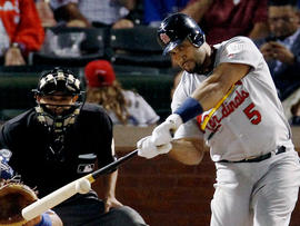 Albert Pujols hits a solo home run