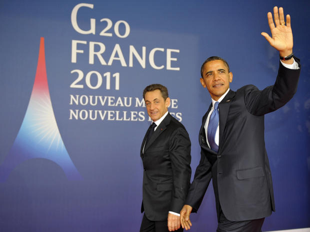 French President Nicolas Sarkozy and President Obama at G20