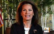 """Bachmann: """"I'm not a politician, I'm a real person"""""""