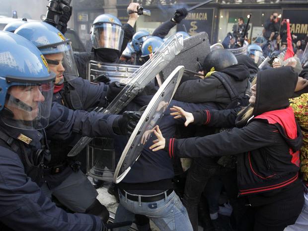 Italy Milan riots