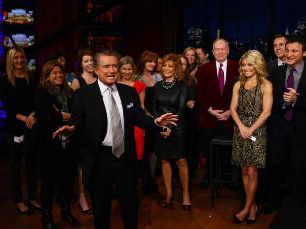 "Regis Philbin says goodbye to ""Live!"""