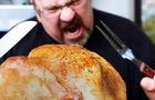 greedy, crazy, hungry, turkey, thanksgiving, stock