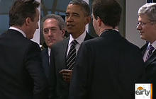 Obama meets with European leaders