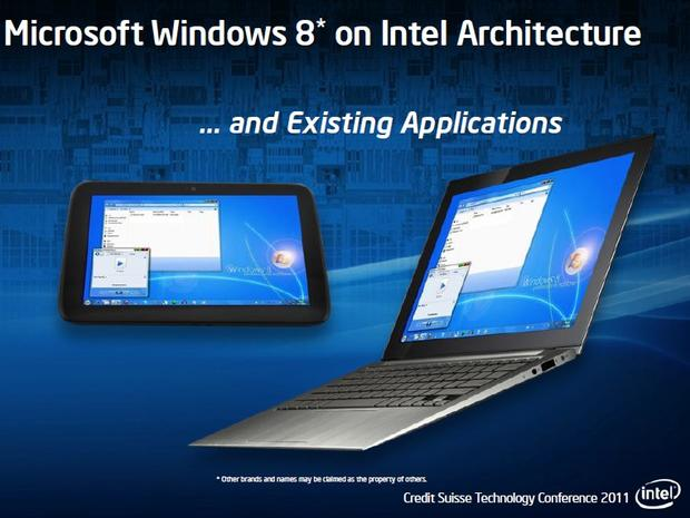 Windows 8 on Intel, existing apps