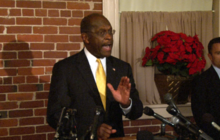Cain talks impact on wife, spars with press