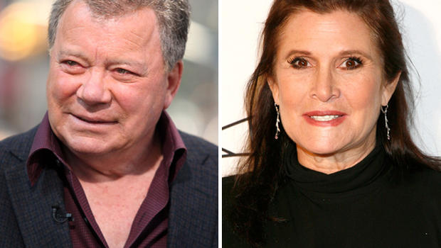 William Shatner and Carrie Fisher fight over whose franchise is better ...