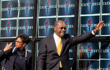 Herman Cain on the campaign trail