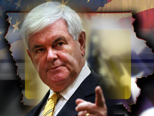 Newt Gingrich Iowa caucas
