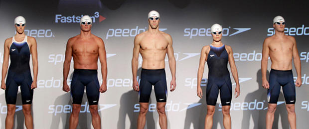 Olympic swimmers suit up for London