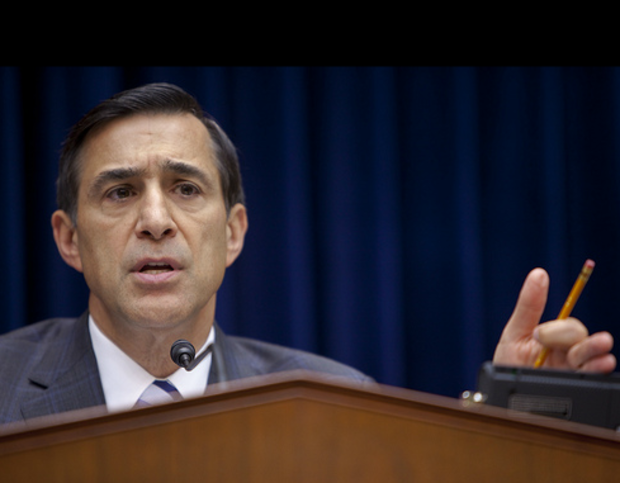 Rep. Darrell Issa, a California Republican who's planning to offer amendments to SOPA during a vote on Thursday.