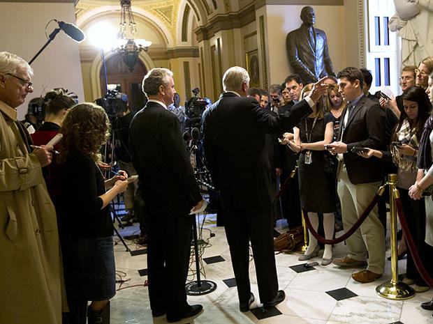 Rep. Steny Hoyer, D-Md. right, and Rep. Chris Van Hollen, D-Md., speak to reporters on the payroll tax cut on Wednesday, Dec. 21, 2011 in Washington.