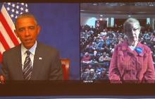 Obama addresses Iowans on caucus night