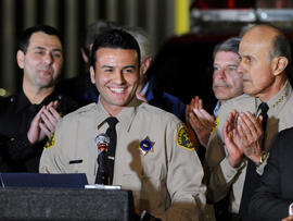 Real estate attorney and reserve Los Angeles Deputy Sheriff Shervin Lalezary is applauded