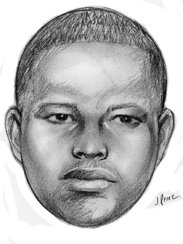This sketch released by the New York Police Department shows a suspect wanted in a string of arson attacks on Sunday, Jan. 1, 2012 that involved throwing lit Molotov cocktails at four locations within the 103 precinct in the Queens borough of New York.