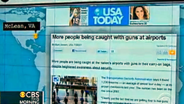 """A headline featured from USA Today on """"CBS This Morning."""""""
