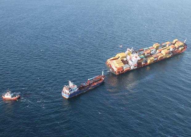 Cargo ship wrecked off New Zealand