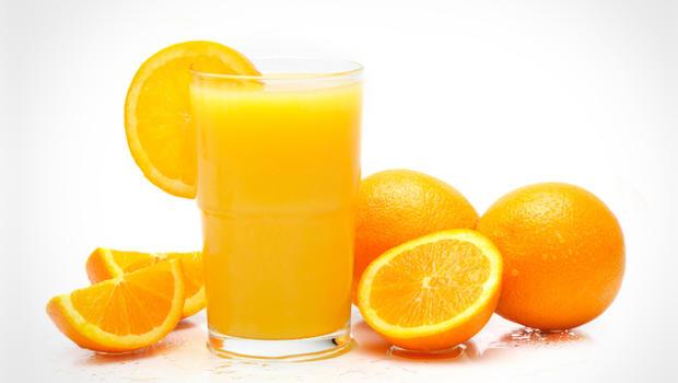 fresh orange juice with orange.