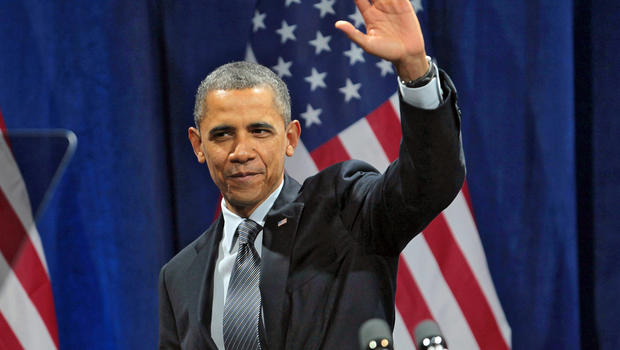 President Barack Obama speaks at a rally