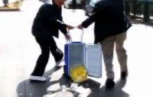 Medics drop human heart on the street