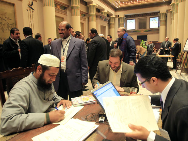Newly elected Egyptian MPs