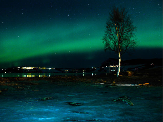 Aurora Borealis lights up the skies