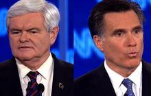 Gingrich, Romney unite to blame Palestine
