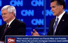 Gingrich, Romney spar over Fannie Mae, Freddie Mac