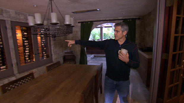 At home with George Clooney